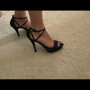 Charles David high heel sandal, size 8, black